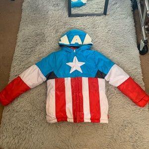 Captain America Puffer Jacket 7/8